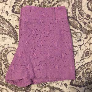 Adorable Lavender Lace Loft Shorts